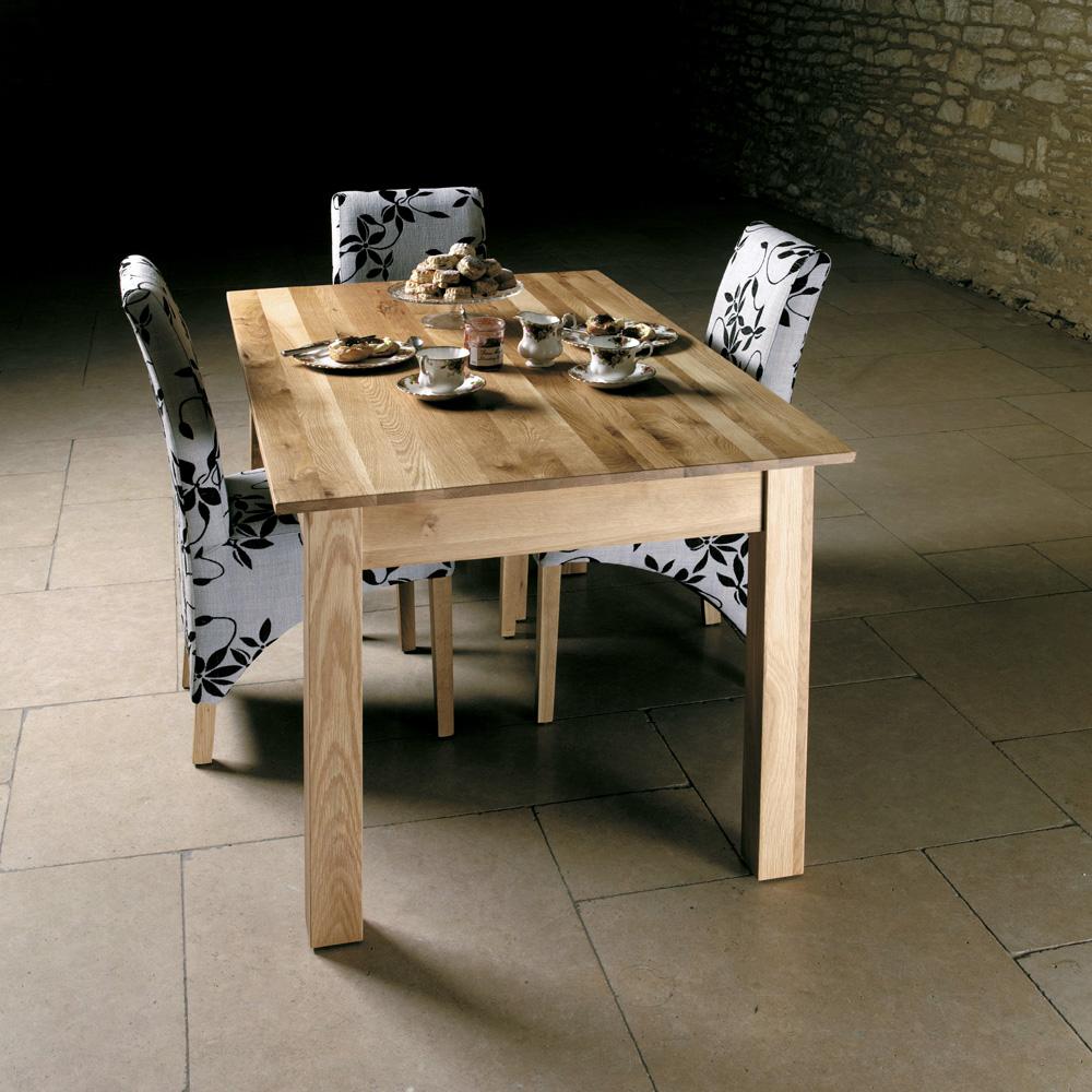 mobel oak 150cm dining table 4 6 seater