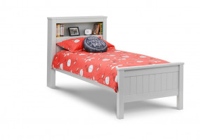 julian-bowen/Maine Bookcase Bed Grey - Dressed.jpg