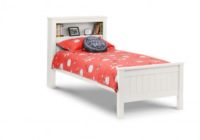 julian-bowen/Maine Bookcase Bed White - Dressed.jpg