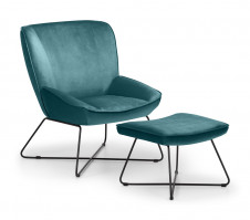 julian-bowen/Mila Chair  & Stool Teal - Angle.jpg