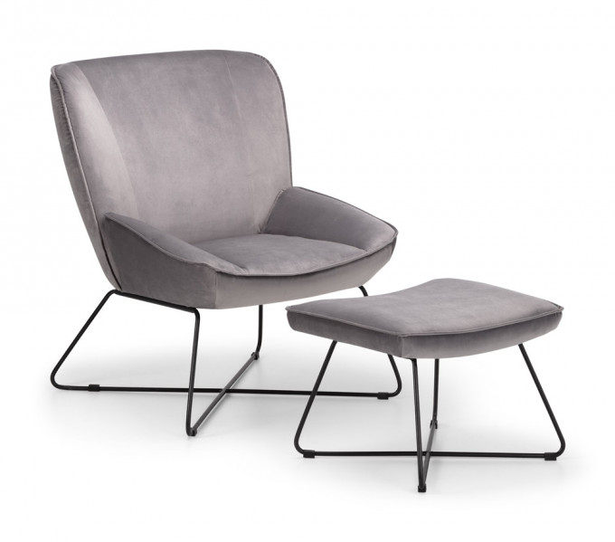 julian-bowen/Mila Chair  & Stool Grey - Angle.jpg